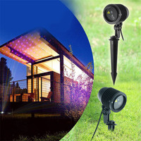 1X 2017 Outdoor Garden RGB Star Christmas Laser Light Projector Dots Effect Home Xmas Tree Landscape