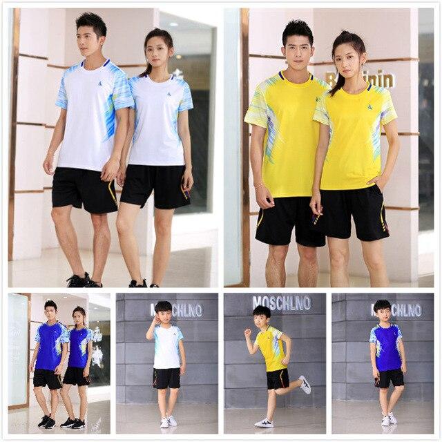 quick dry Badminton shirt , Male Female shirt badminton , blusas mujer de moda 2018 , table tennis hurricane 38 , Young Tennis