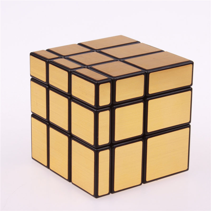 3x3x3 Magic Mirror Cube professional Gold&Silver cubo magico Cast Coated Puzzle Speed Twist learning and education Toys dayan bagua magic cube 6 axis 8 rank cube puzzle cubo magico educational toy speed puzzle cubes toys for kid child free shipping