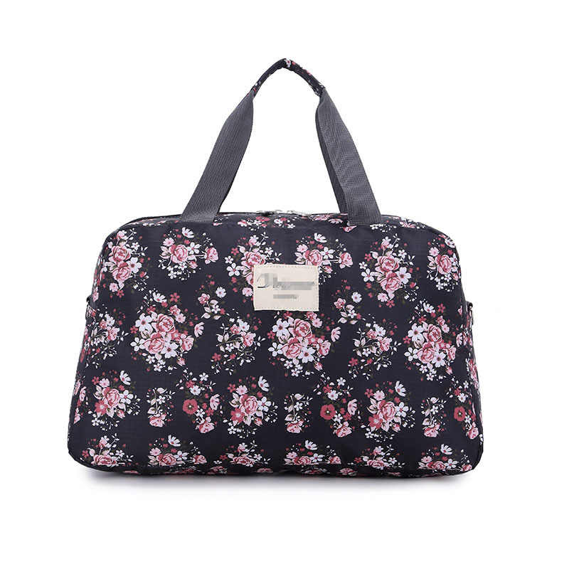 9c30b4fbbf09 Detail Feedback Questions about 2019 Hot Women Lady Large Capacity Floral  Duffel Totes Sport Bag Multifunction Portable Sports Travel Luggage Gym  Fitness ...