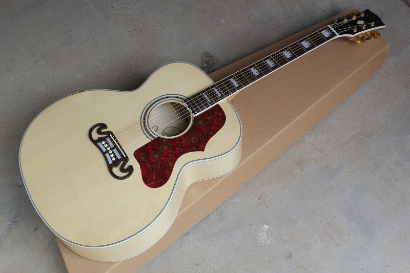 Top Qualité Palissandre touche J200 Guitare Acoustique avec Fishman Micros Burlywood guitare électro-acoustique 14-9-30