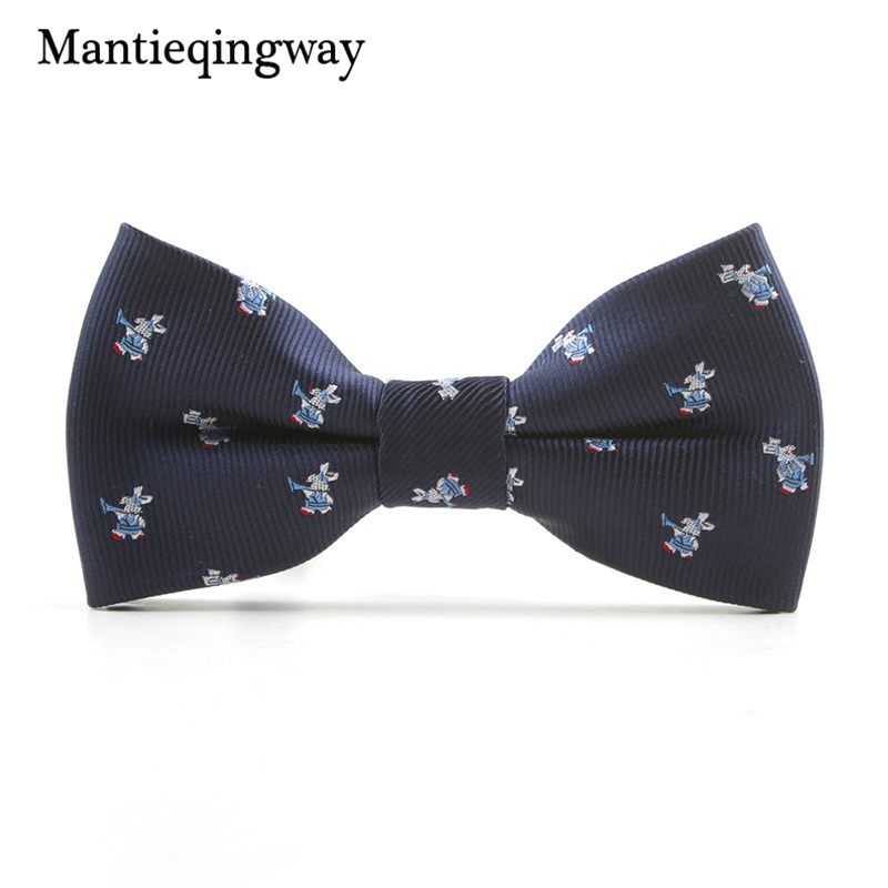 MXR068189  Mantieqingway Cartoon Kids Bow Ties for Child Fits Animals Sample Butterflies Collar Bowtie for Boys Woman Youngsters Cravat Tie HTB146yFawvD8KJjy0Flq6ygBFXaq