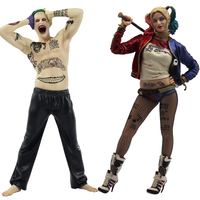 12 DC Suicide Squad Joker Harley Quinn Action Figure Cartoon Cartoon Anime Harleen Model Toys Collections