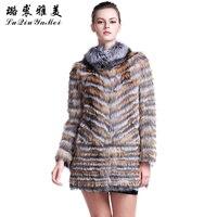 Fox Fur Coats For Women Red Silver Fox Fur Natural Vest 2017 Luxury Brand Russian Plus