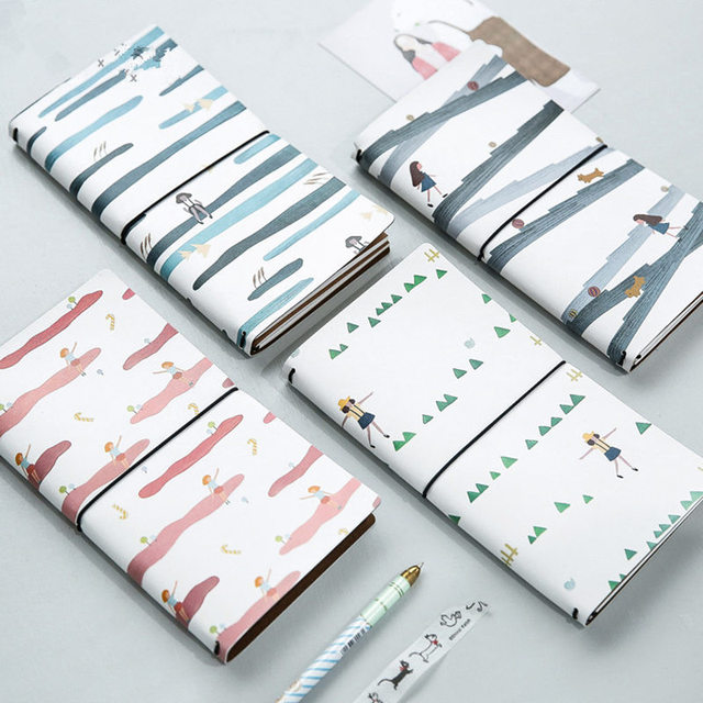 Coloffice kawaii manual Cuadernos de tapa dura PU cubierta 60 ...