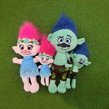23-36cm Dreamworks Trolls film figura gyűjthető babák mák ág Biggie puha töltött rajzfilm babák hosszú haj baba játék ajándék
