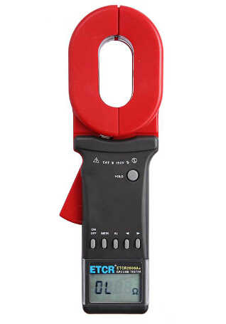 ETCR2000A+ Digital Clamp On Ground Earth Resistance Tester Meter 0.01-200 ohm 99 Sets