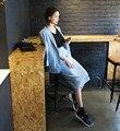 Senhoras Estilo Formal Do Escritório Terno Azul Bege Fêmea 2016 Saia + jaqueta Skirtsuit para As Mulheres Traje de Negócios Para As Mulheres Mais tamanho