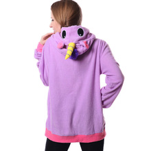 Women's Solid Color Unicorn Hoodie