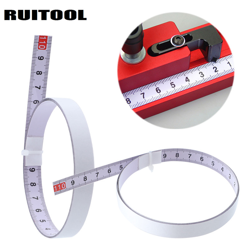 1M Miter Saw Tape Measure Self Adhesive Metric Steel Ruler Miter Track Stop Tape For Router Saw Table Band Saw Woodworking Tools high quality table saw router miter gauge sawing assembly ruler woodworking diy tools