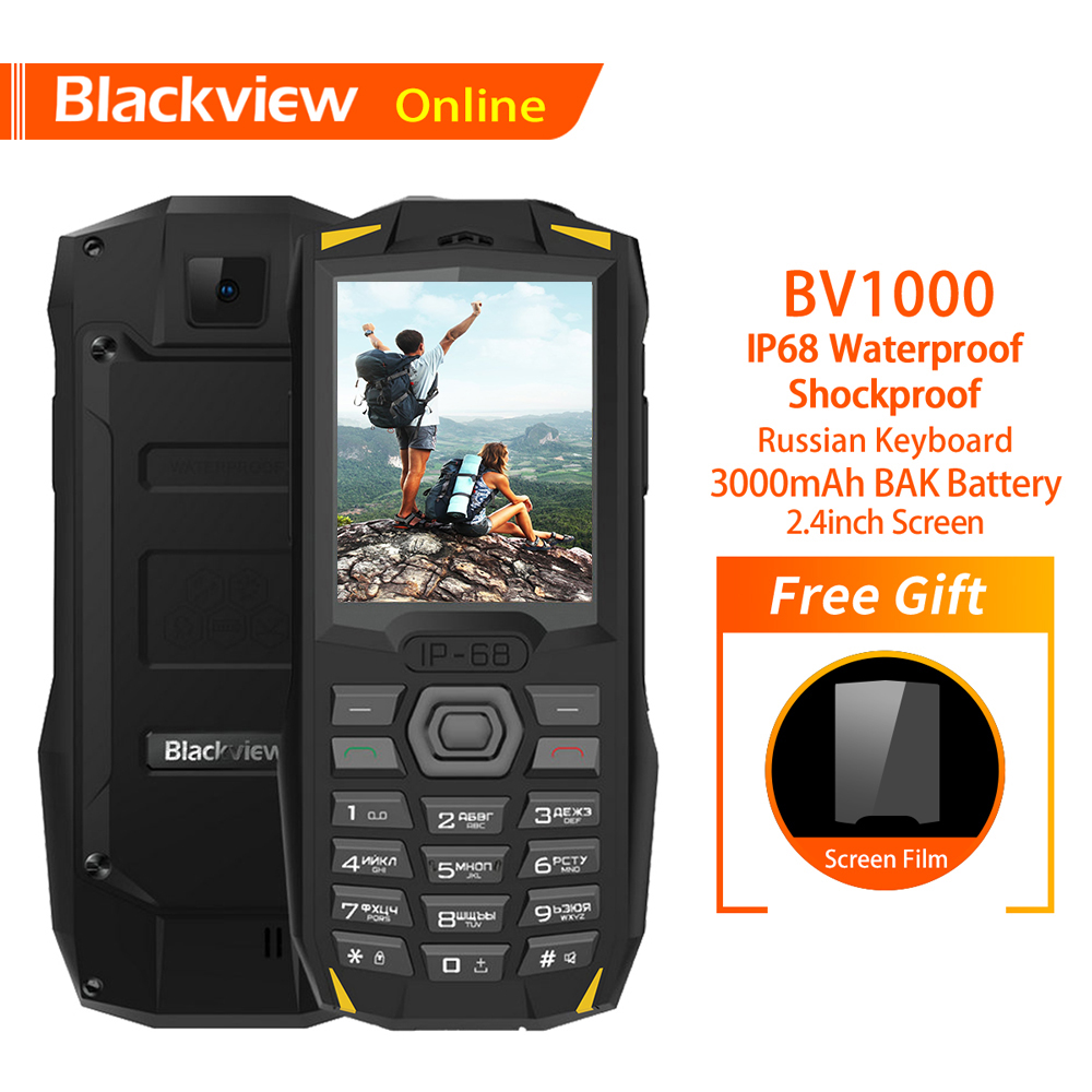 Blackview Original BV1000 Russian Keyboard 2.4 Rugged Mobile Phone IP68 Waterproof Dual SIM 3000mAh Mini Cellphone FlashlightBlackview Original BV1000 Russian Keyboard 2.4 Rugged Mobile Phone IP68 Waterproof Dual SIM 3000mAh Mini Cellphone Flashlight
