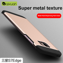 For Samsung Galaxy S7 Edge Case Metal Back Cover For Samsung S7 edge case cover luxury Original Aixuan brand case for s7edge
