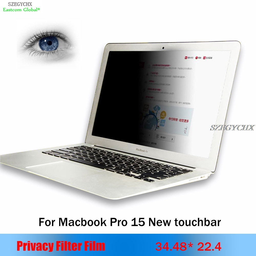 For apple Macbook Pro 15 New Touchbar A1707 Privacy Filter Anti-glare screen protective film,For Notebook Laptop 34.48*22.4cm