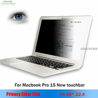 For apple Macbook Pro 15 New Touchbar A1707 Privacy Filter Anti glare screen protective film,For Notebook Laptop 34.48*22.4cm
