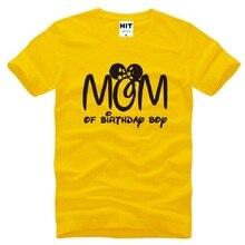 New Designer Mom Of Birthday Boy T Shirts Men Cotton Short Sleeve Funny Printed Mens