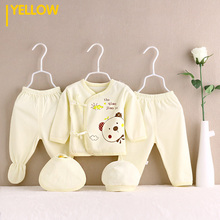 5 PCS/set 0-3M Newborn Baby Clothing Set Brand Baby Boys and Girls Clothes 100% Cotton Cartoon Underwear emotion moms autumn newborn clothing fashion cotton infant underwear baby boys girls suits set clothes for 0 3m 20pcs set