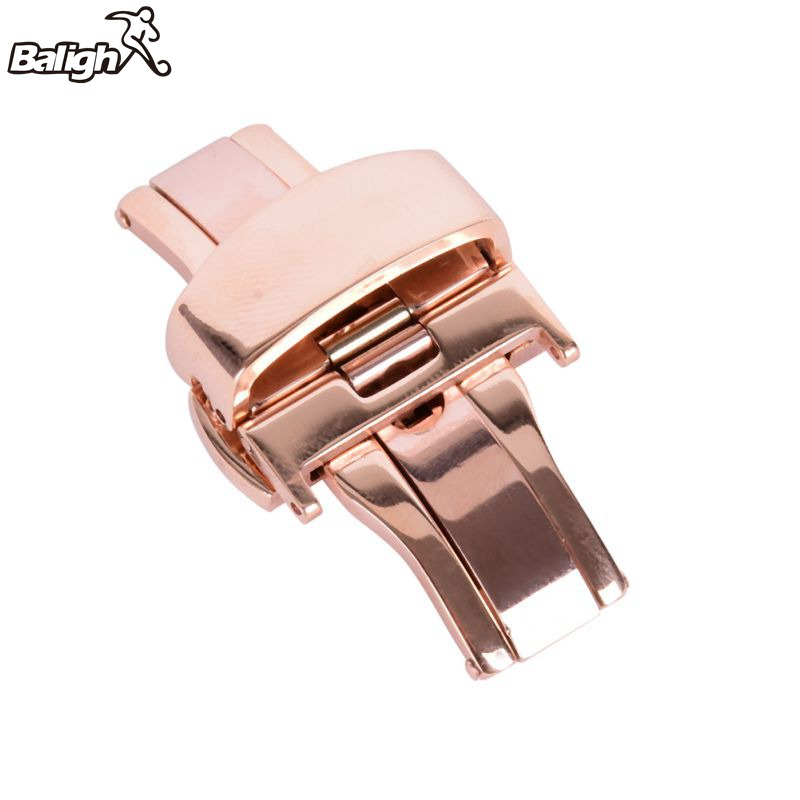 Nice Butterfly Deployment Watch Bands Double Push Button Fold Strap Buckle Clasp 16/18/20/22/24mm tearoke butterfly deployment watch band double push button fold strap buckle clasp 16 18 20 22 24mm gold rose gold silver