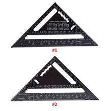 Triangle Angle Protractor Metric Aluminum Alloy Black Oxidation Roofing Layout Guide 7 Inch