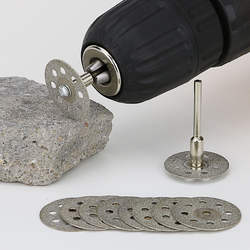 12 шт./лот Diamond шлифовальные круги пилы круглый нож с диском для Dremel роторный инструмент алмазные диски лезвия механические инструменты