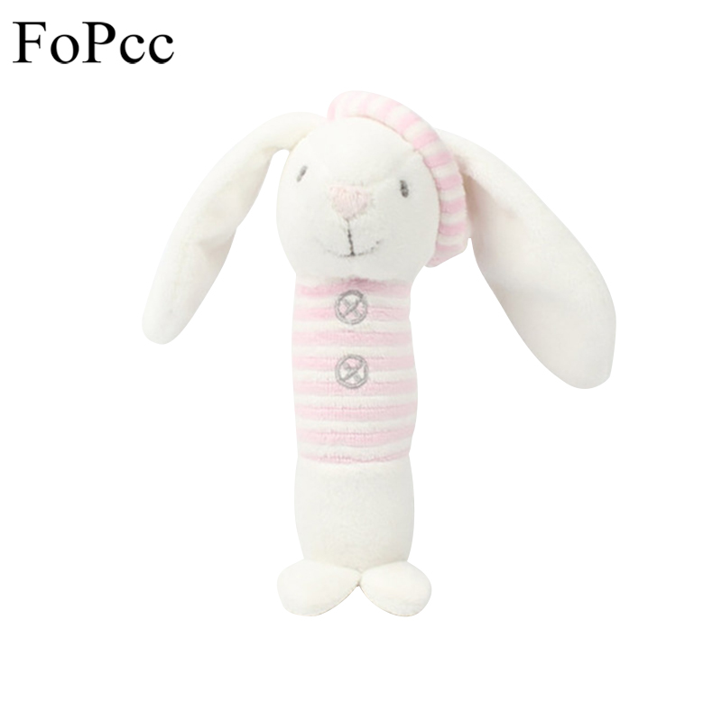 FoPcc Pink Rabbit Soothing Music Plush Toy PP Cotton Soft Baby Toys Baby Rattle Sound Toy Children Gift 19cm Plush Doll