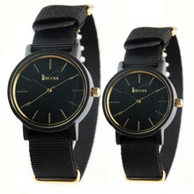 2016 Europe new fashion top brand ebony wood men casual watch nylon strap women watches men/lady lovers dress sports wristwatch