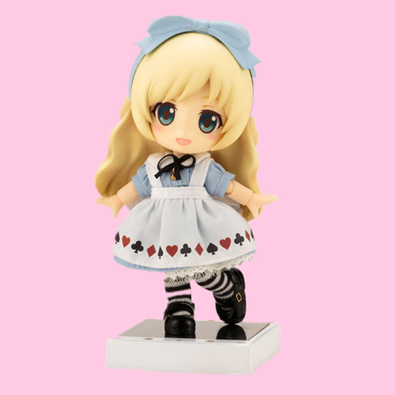 Cu-poche Friends Alice From Alice In Wonderland Nendoroid PVC Real Clothes Ver. Alice Action Figure Dolls Collectible Model ToysCu-poche Friends Alice From Alice In Wonderland Nendoroid PVC Real Clothes Ver. Alice Action Figure Dolls Collectible Model Toys