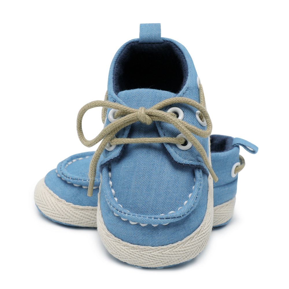 Baby Shoes Fashion Lace-Up Canvas Shoes Soft Prewalkers Casual Baby Girl Boys Shoes Baby Moccasin
