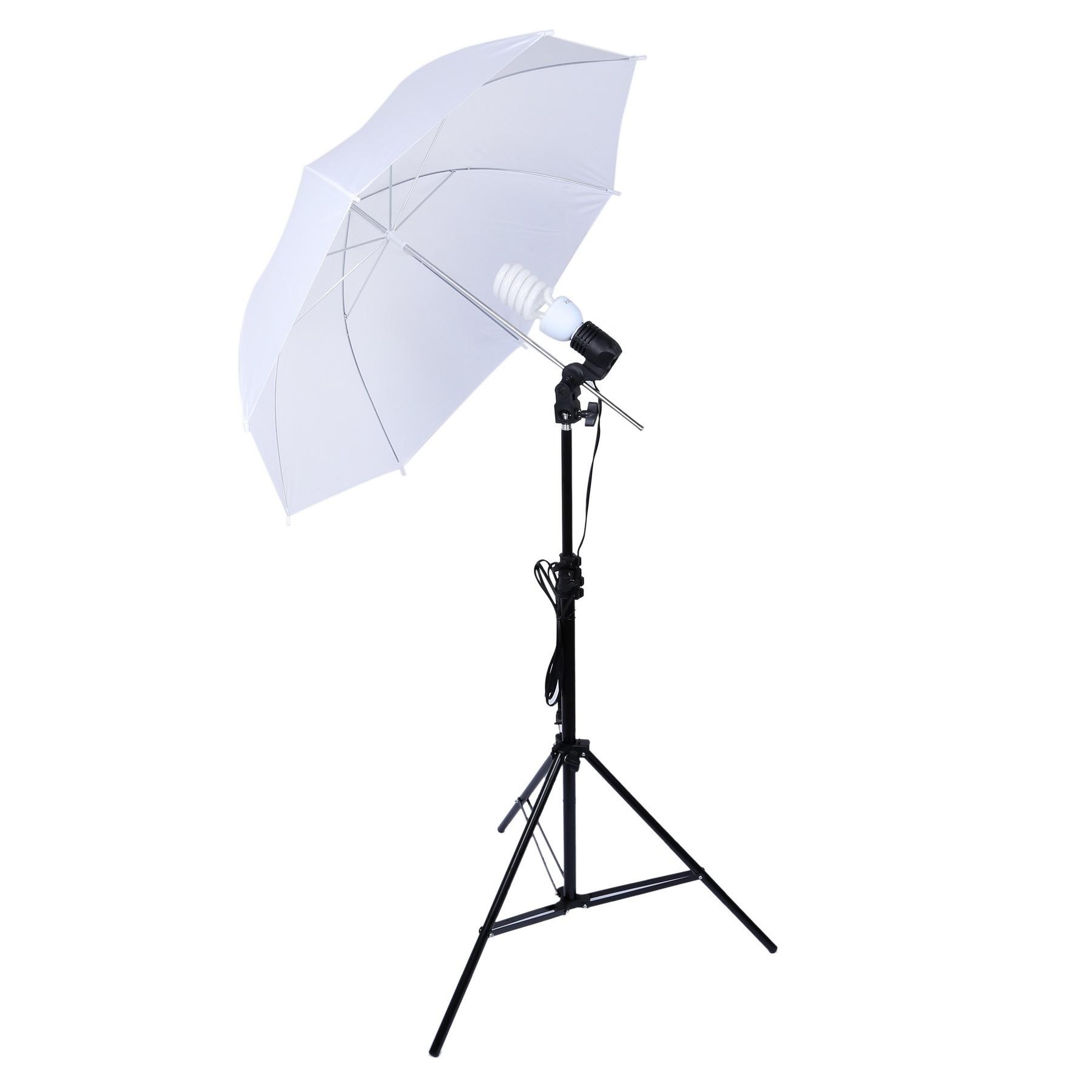 Photographie Studio Kit lampe 33 pouces lumière douce porte-parapluie unique lampe tête 45 W ampoule Photo accessoires