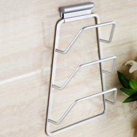 Pot Pan Cover Stand Holder Lid Rack Wall Mount Pot Cover Rack Shelf 3 Layers Kitchen
