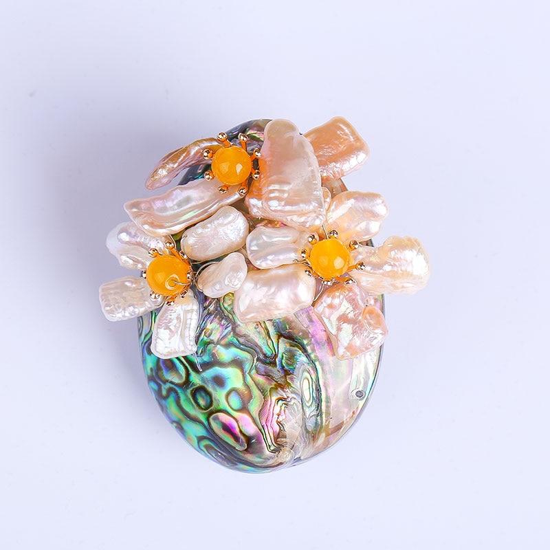 Jewelry high end shell flowers crystal Xionghua pin pearl diamond shawl deduction genuine crystal rhinestone big brooch female все цены