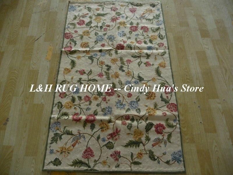 Livraison gratuite 10 K 4'x6 'tapis en laine à l'aiguille 100% laine et tapis noués à la main pour la décoration intérieure