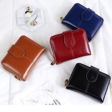 Fashion Women Short Wallet Female Zipper Wallet PU Leather Multi-fFnction Purse Small Money Bag Coin Pocket Wallet High Quality