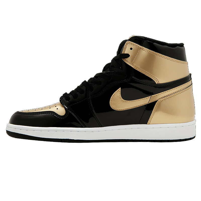 online store 64a6c a9bec US $468.0 |Nike Air Jordan 1 Top3 AJ1 ComplexCon Joe 1 black gold mandarin  ducks basketball shoes Sneakers, non slip shoes 861428 001-in Basketball ...