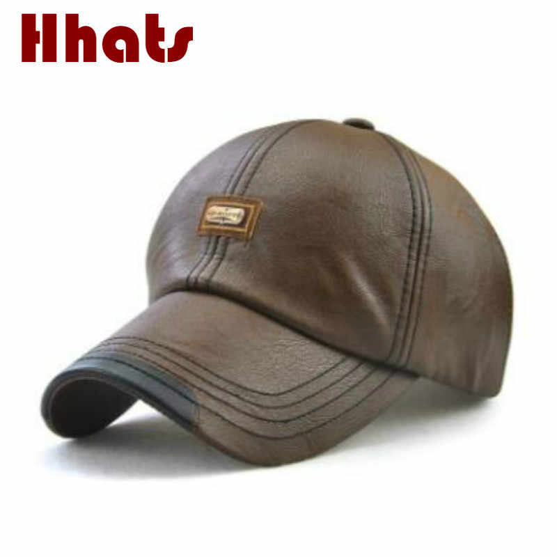 which in shower fashion high quality fall winter men faux leather hat cap  casual women PU 7e3ffbfc70e4