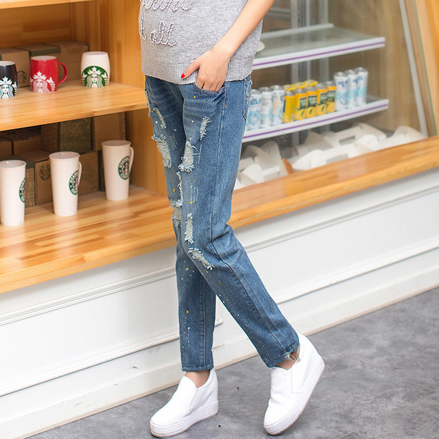 Maternity pregnancy jeans overalls pants for pregnant women Elastic waist ripped  jeans pregnant pregnancy overalls clothes - Aliexpress.com : Buy Maternity Pregnancy Jeans Overalls Pants For