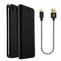 CASEBODY For IPhone 8 7 6 6S Plus Luxury Leather Flip Folio Case Card Slot Wallet