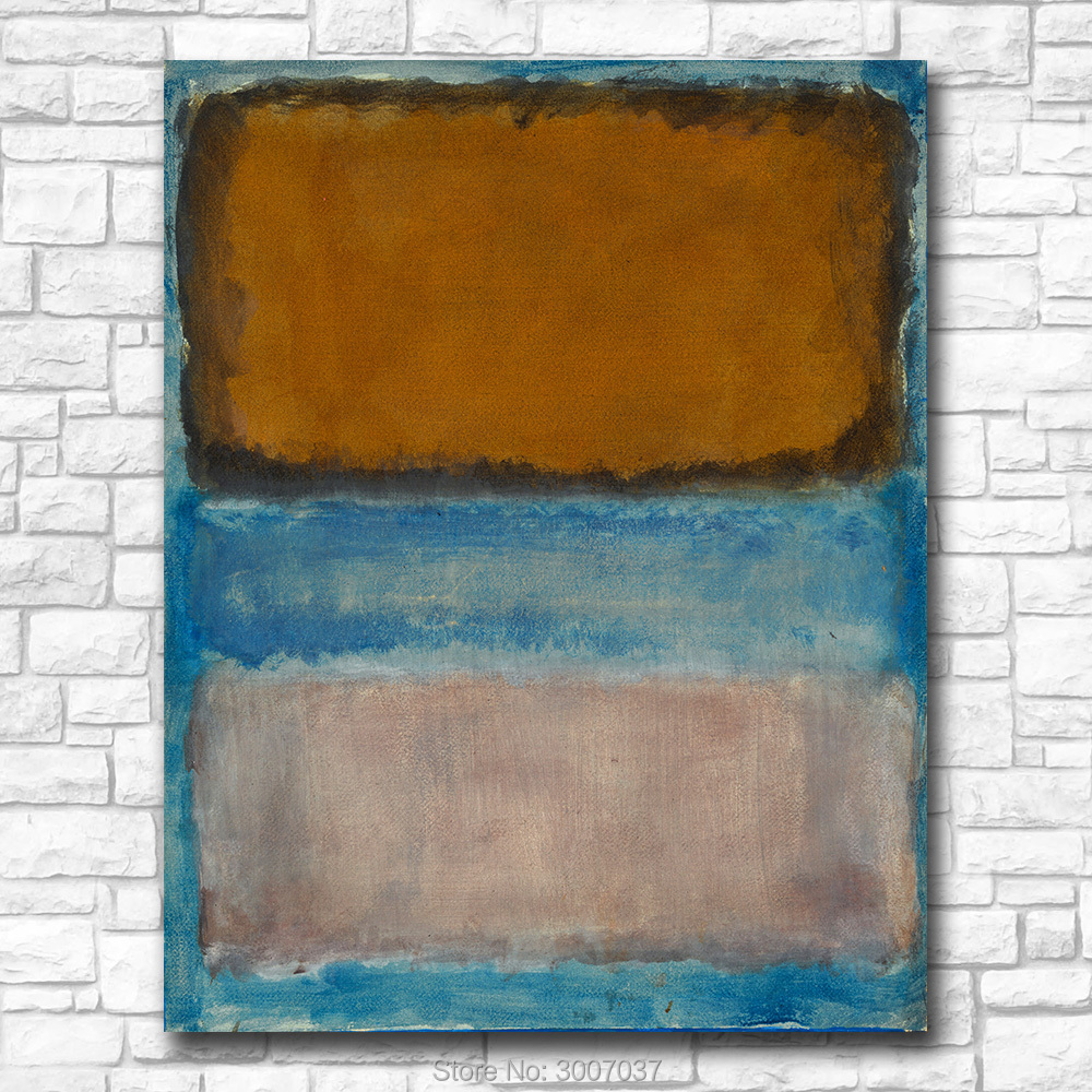 Painting Art Wall Pictures For Living Room Abstract Mark Rothko Untitled Canvas Art Home Decor Modern No Frame Oil Painting in Painting Calligraphy from Home Garden