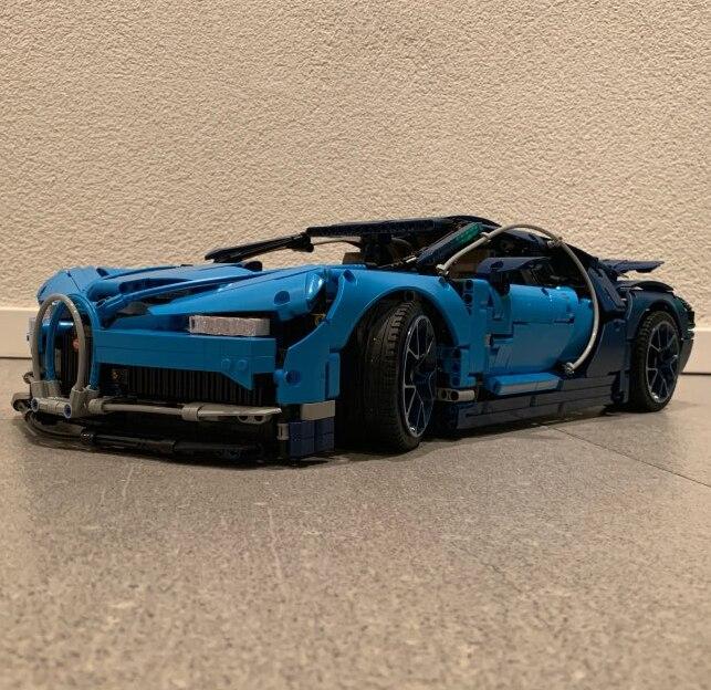 Lepin Technique 20086 Bleu Bugattié Super voiture de course Ensemble blocs de construction Briques Compatible Legoing 42083 Jouets Pour enfants Cadeau