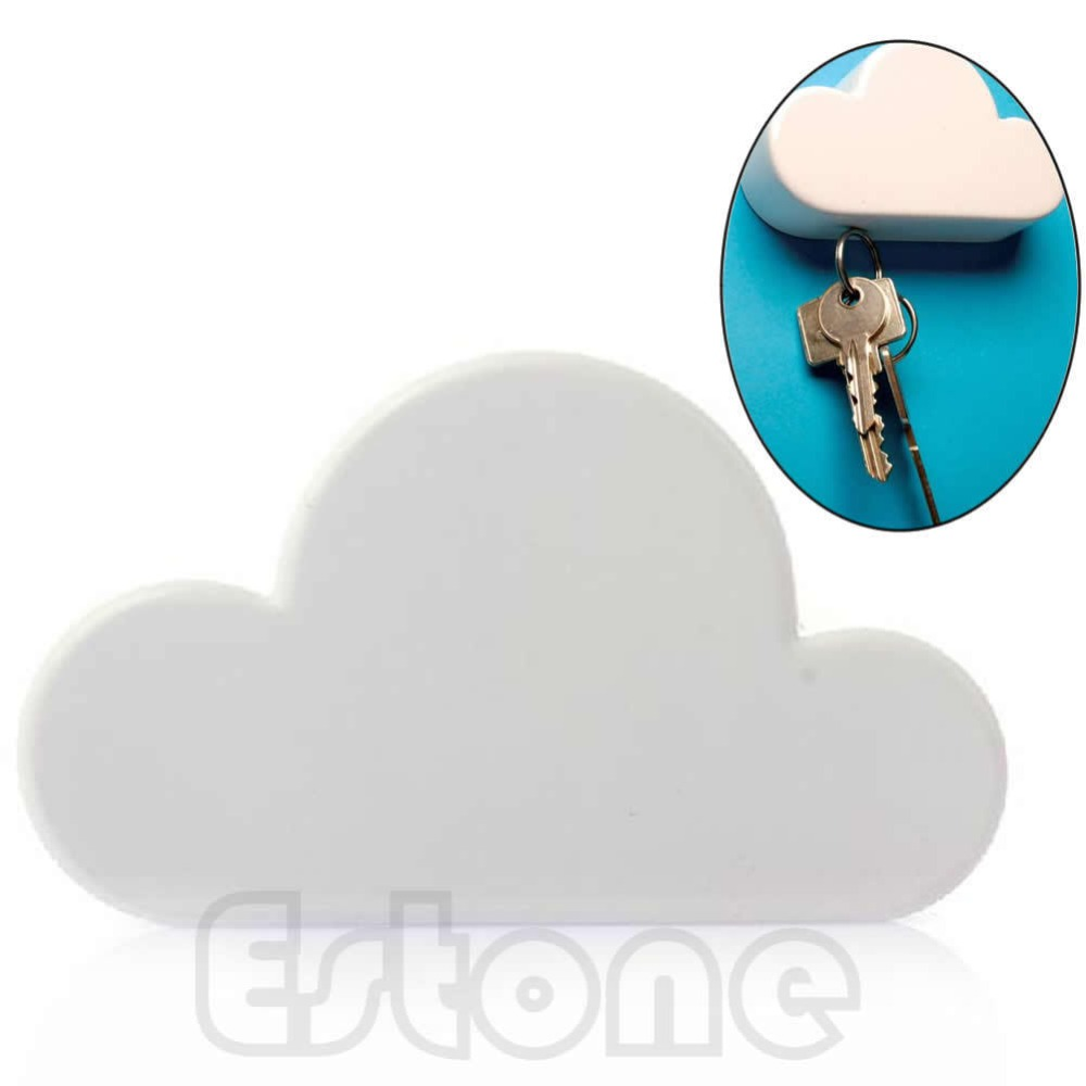 Cool Gadgets New Hot Novelty White Color Cloud Shaped Magnetic Magnets Key Holder Gift 1