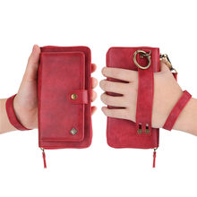 Multifunction Leather Wallet Hand Case For iPhone XS MAX XR 6S 7 8 Plus For Samsung Galaxy S10 S8 S9 Plus Note 8 9 S10Lite multifunction woven pattern zipper wallet case for samsung note 10 8 9 s8 s9 s10 plus s10e for iphone xs max xr x 6 6s 7 8 plus