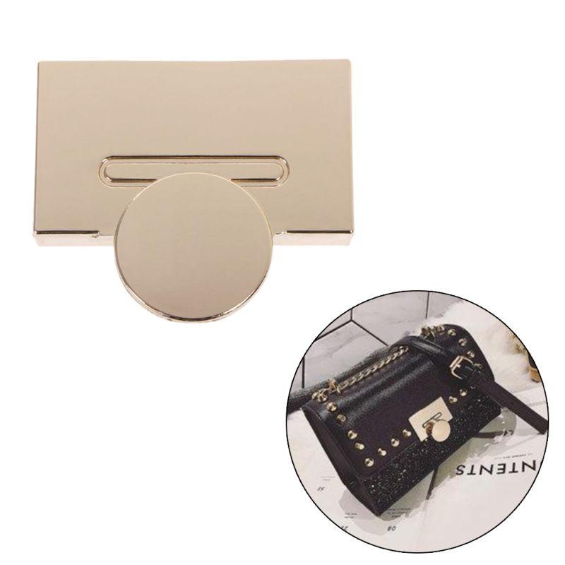 2Colors Magnetic Clasp Turn Lock Twist Locks Metal Hardware For DIY Handbag Bag Purse