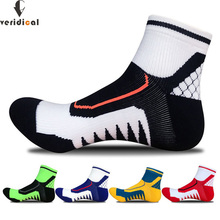Veridical 5คู่/ล็อตผ้าฝ้ายถุงเท้าการบีบอัดMan Professionalหนาถุงเท้าสั้นฤดูใบไม้ร่วงและฤดูหนาวMeias Masculinoถุงเท้าข้อเท้า