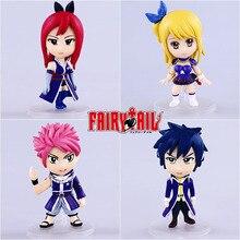 Popular toys 4pcs/set Fairy Tail PVC Action Figure painted Gray figure Garage Kits Dolls