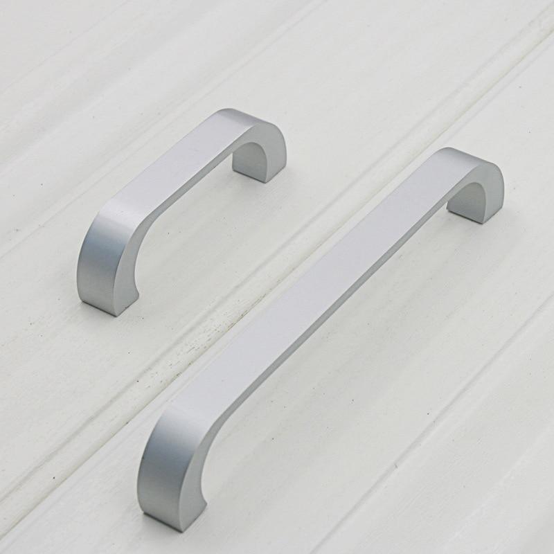 Aluminum Long Knob Cabinet Furniture Door Handles Knobs Bedroom Closet Dresser Kitchen Drawer Pulls HUG-Deals