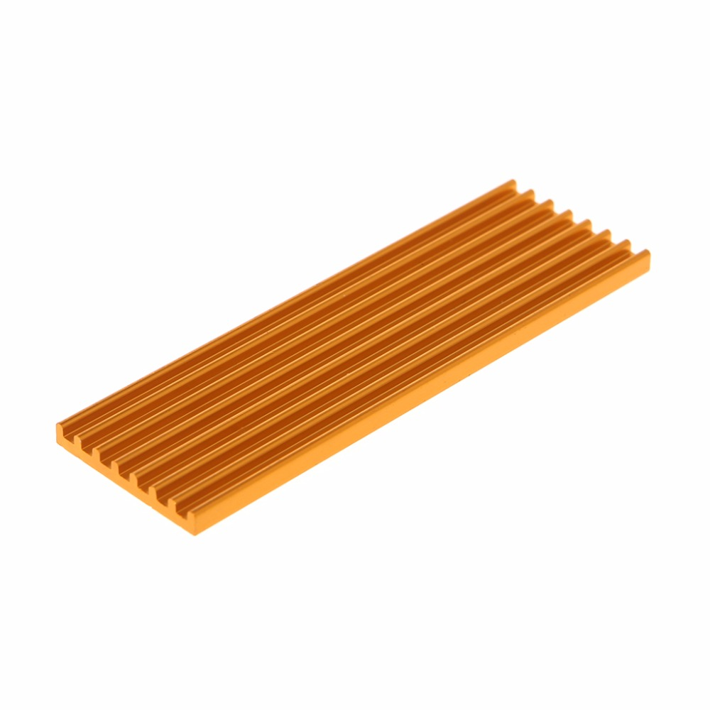 1Pc Aluminum Radiator Heatsink For M.2 PCIE Solid State Disk SSD 2280 70x22x3mm Heat Sink C26