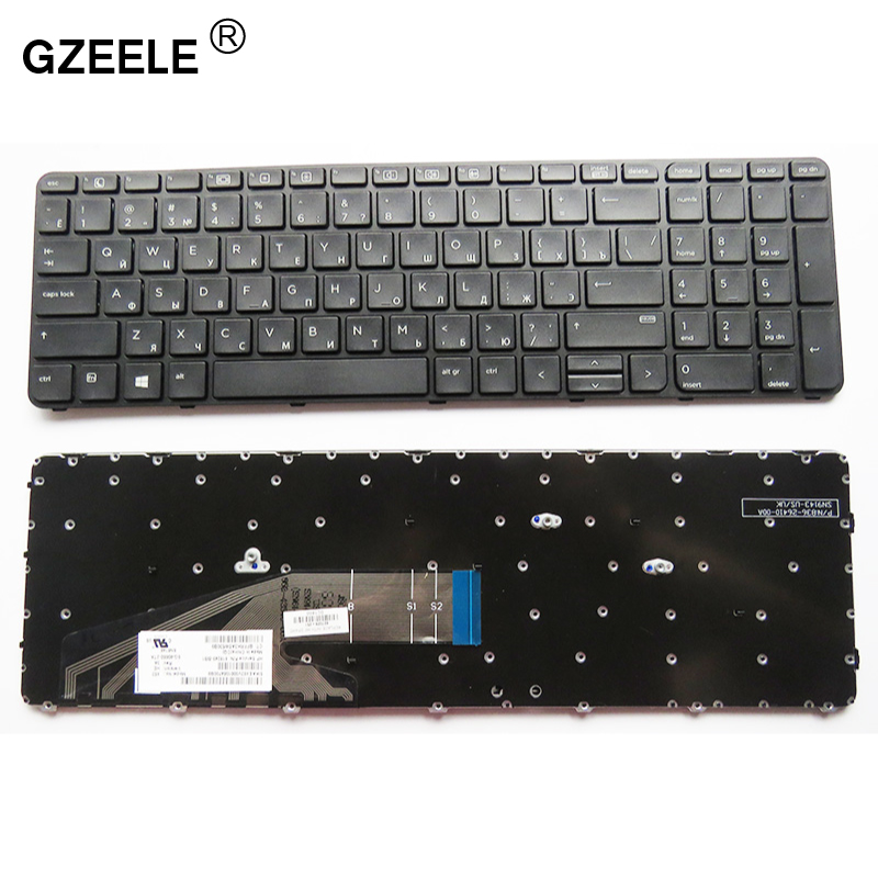 GZEELE Russian Keyboard For HP ProBook 450 G3 , 455 G3 , 470 G3 RU Black Laptop Keyboard
