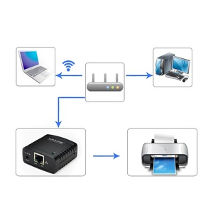Image 3 - Wavlink USB 2.0 Netzwerk LRP USB Hub 100Mbps Teilen eine LAN Vernetzung Drucker Power Adapter für Windows EU /US/UK stecker