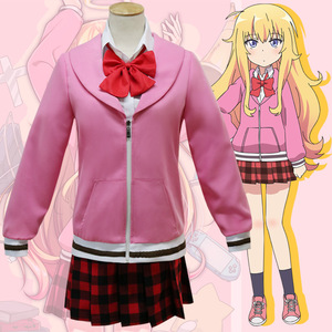 Gabriel DropOut Cosplay Costume Tenma Gabriel White Cosplay School Uniform Anime Halloween Carnival Party Costume(China)