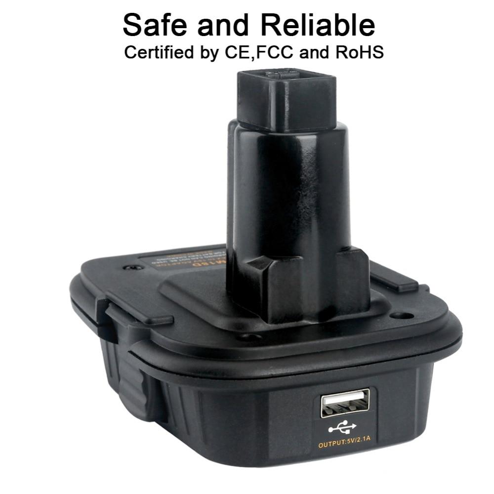 DCA1820 18V To 20V Battery Converter Adapter For Dewalt Battery Adapter DM18D Converted To Li-Ion Charger Tool Convertor eleoption dca1820 18v to 20v battery converter adapter for dewalt battery