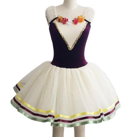 Professionell balett Tutu Ballett Tutu klänning för barn Professionella dansdräkter Justaucorps De Danse Pour Les Femmes